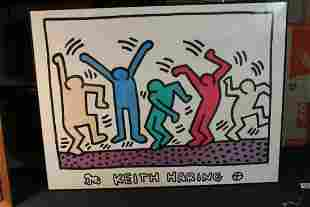 A Framed Keith Haring Poster
