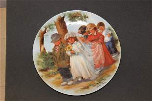 """Collector's Plate """"Here Comes The Bride"""" by Jeanne"""
