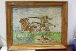 A Signed George Chandler Oil on Board Painting