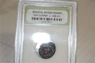 A Slabbed Medieval Bronze Nummis