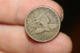An 1857 Flying Eagle Penny