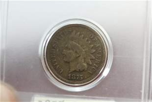 An 1875 Indian Head Cent