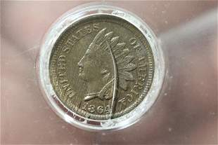 A Very Rare 1864 Indian Head Cent