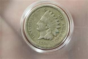An 1860 Civil Ware Era Indian Head Cent