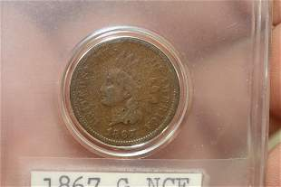 An 1867 Indian Head Cent