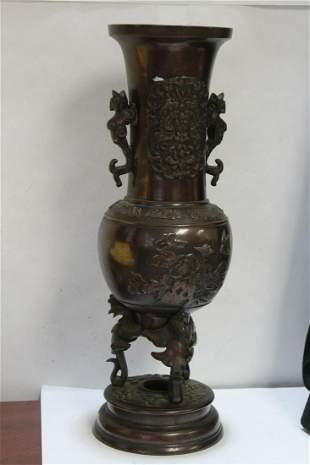 An Antique Japanese Bronze Urn