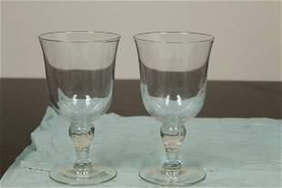 Lot of 2 Glass Tumblers