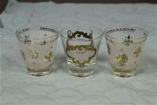 Lot of 3 Glasses