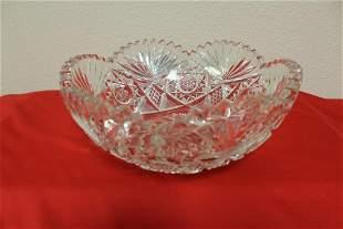 American Brilliant Cut Crystal Bowl