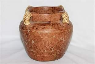 A Clay Etched Jar
