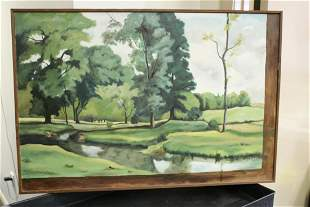 A Midcentury Oil on Canvas