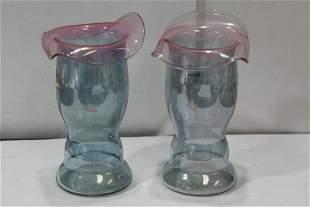 Set of 2 Artglass Vases