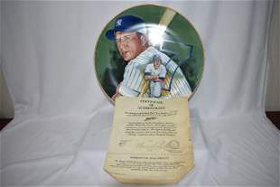 A Mickey Mantle Collector's Plate