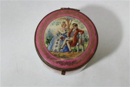 A Vintage Porcelain Trinket Box