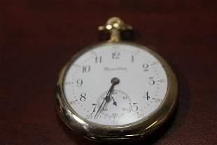 An Open Face Hamilton Pocket Watch