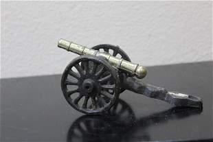 A Vintage Cast Iron Cannon