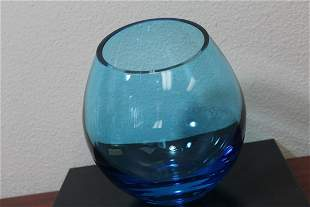 A Mid Century Modern Blue Vase