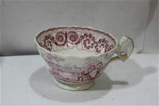 An Antique Ceramic Transferware Cup