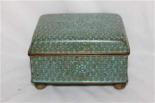 A Chinese Cloisonne Box