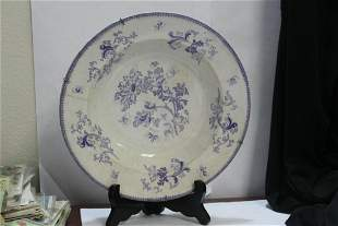 An Ironstone Blue and White Bowl