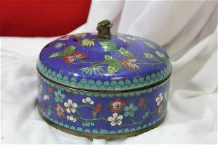 A Chinese Cloisonne Round Box