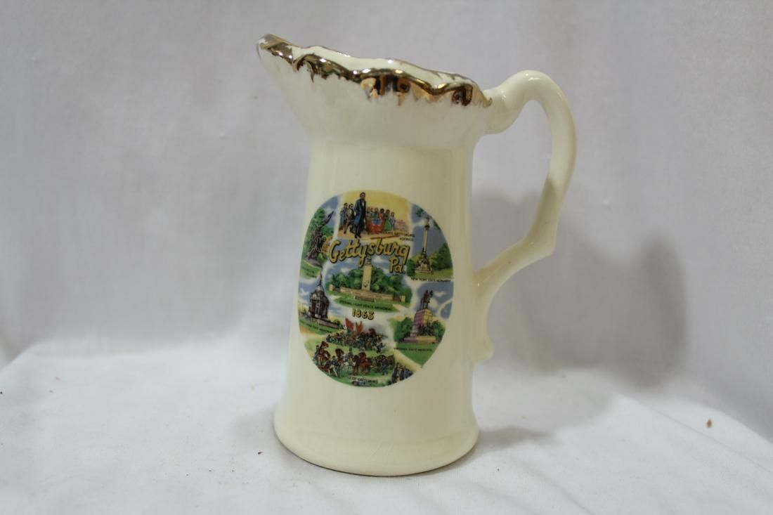 A Gettysburg Souvenir Ceramic Pitcher