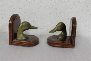 Pair of Duck Bookends