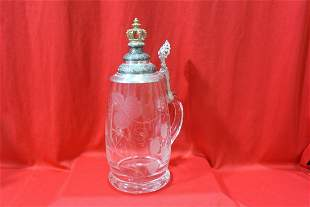 An Etched Glass Stein