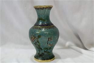 A Chinese Plique-a-Jour Cloisonne Vase