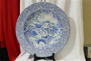 A Nice Chinese Blue and White Porcelain Charger