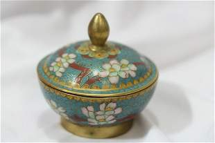 A Chinese Cloisonne Trinket Box