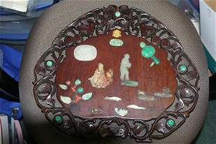 An Antique Chinese Jade/Hardstone Plaque