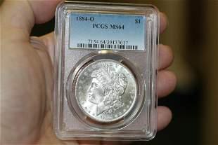 A PCGS Graded 1884-O Morgan Silver Dollar