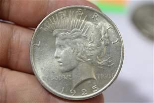 A 1925 Peace Silver Dollar