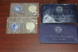 Lot of Two 40% Silver Uncirculated Ike Dollar