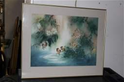 A Framed Watercolour by Dee Devane
