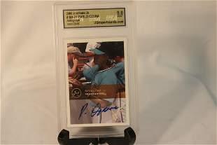 A Graded Autographed Baseball Rookie Card