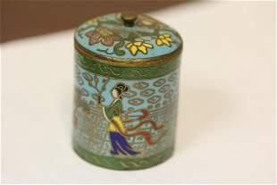 A Small Cloisonne Box