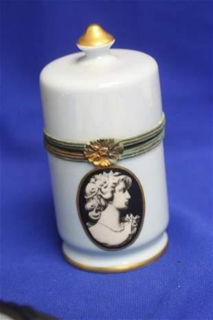 A Limoges Portrait Table Lighter