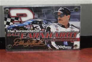A Dale Earnhardt Racing Car Card
