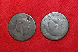 Lot of 2 Large Cents