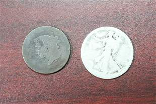 Lot of 2 Unknown Date Coins