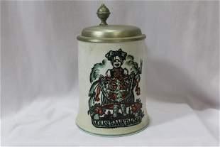 A Porcelain Beer Stein