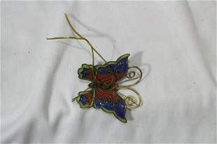 A Chinese Enamel Butterfly Christmas Ornament