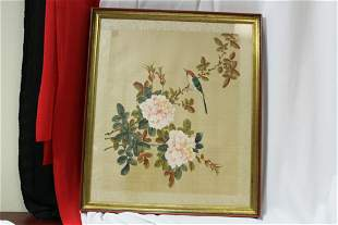 A Signed Chinese Painting on Silk