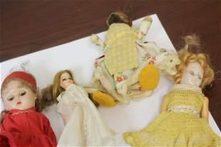 Lot of 4 Vintage Dolls