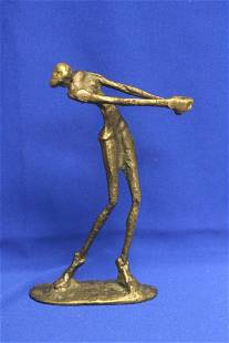 A Bronze Athlete Statue