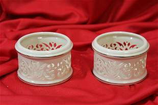 A Pair of Lenox Candle Holders