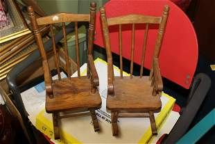Two Salesman or Doll Furniture-Pair of Rockers