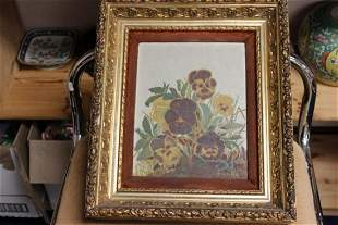 An Antique Oil on Wood Board Painting
